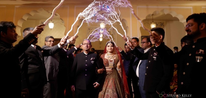 bride enters with her father