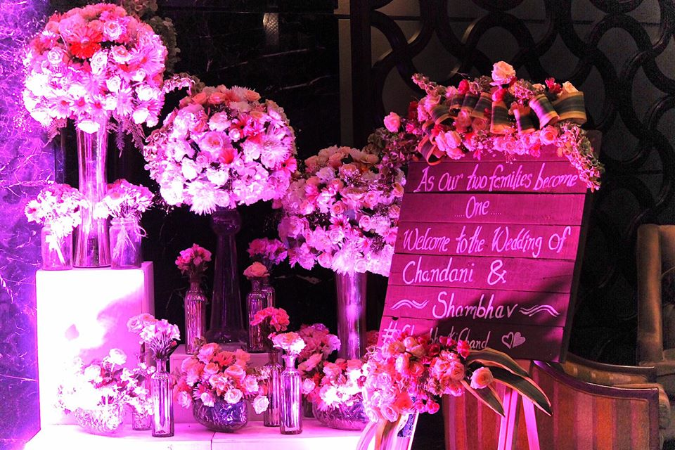 flower decoration stage theme