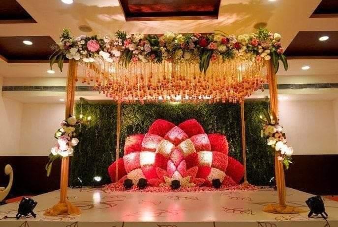 beautiful floral mandap decor