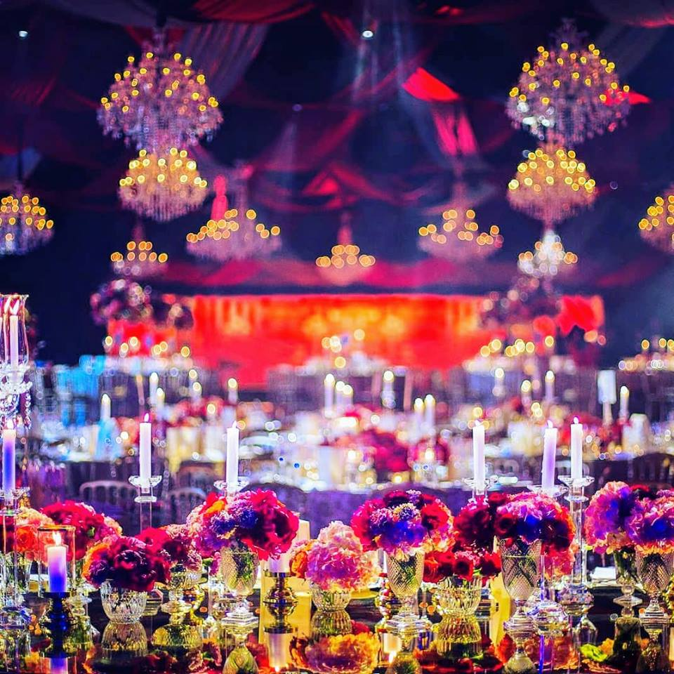 floral table decor design