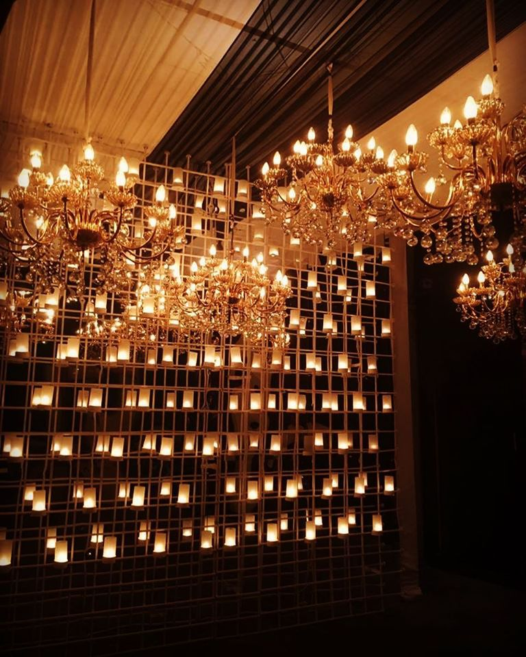 candle light reception hall decoration idea