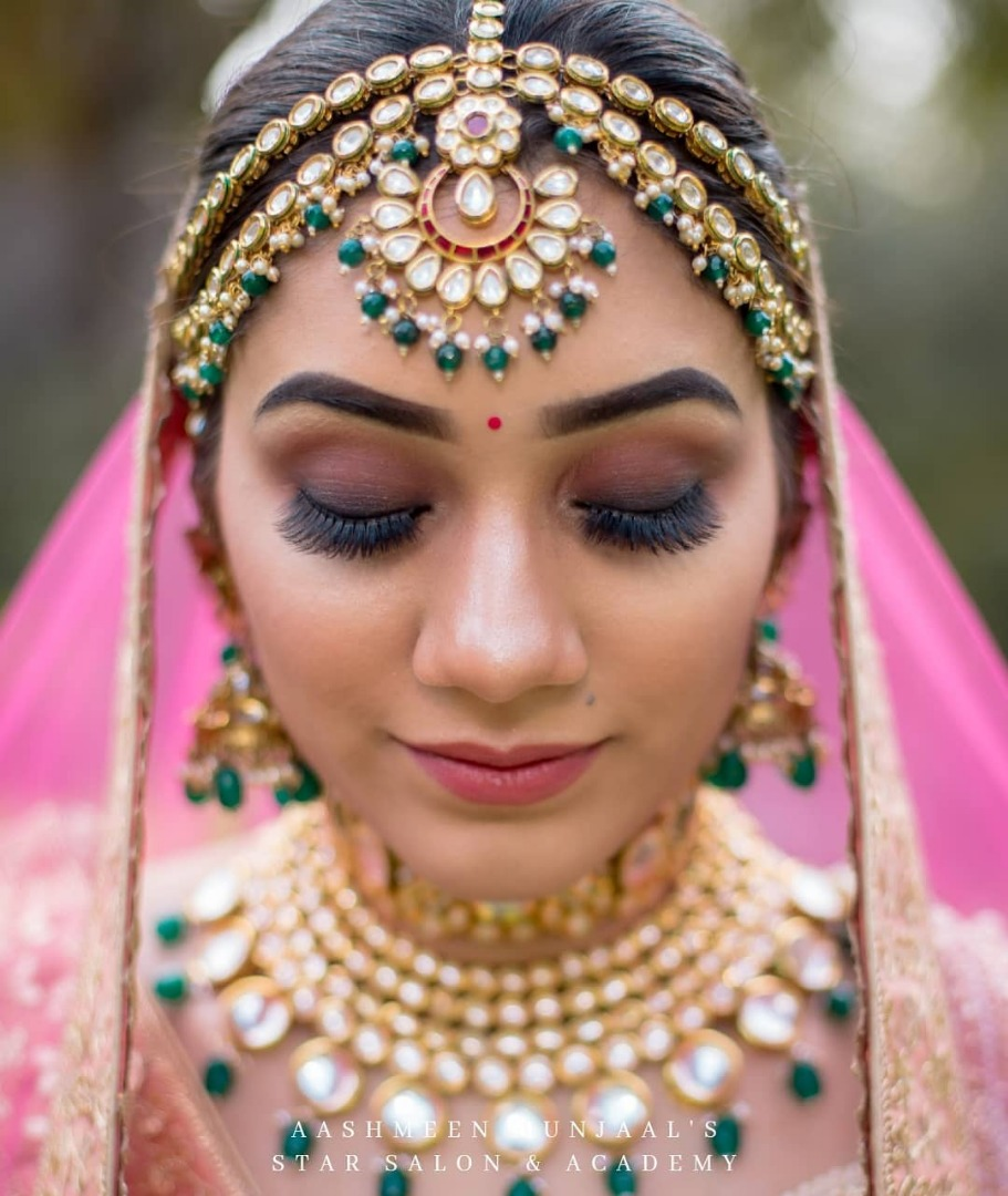 Beautiful eye makeup of Indian Bride