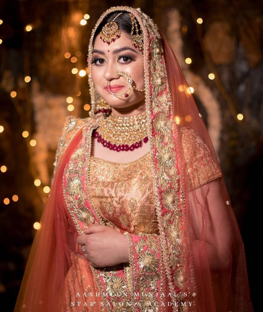 Beutiful bride in lehenga