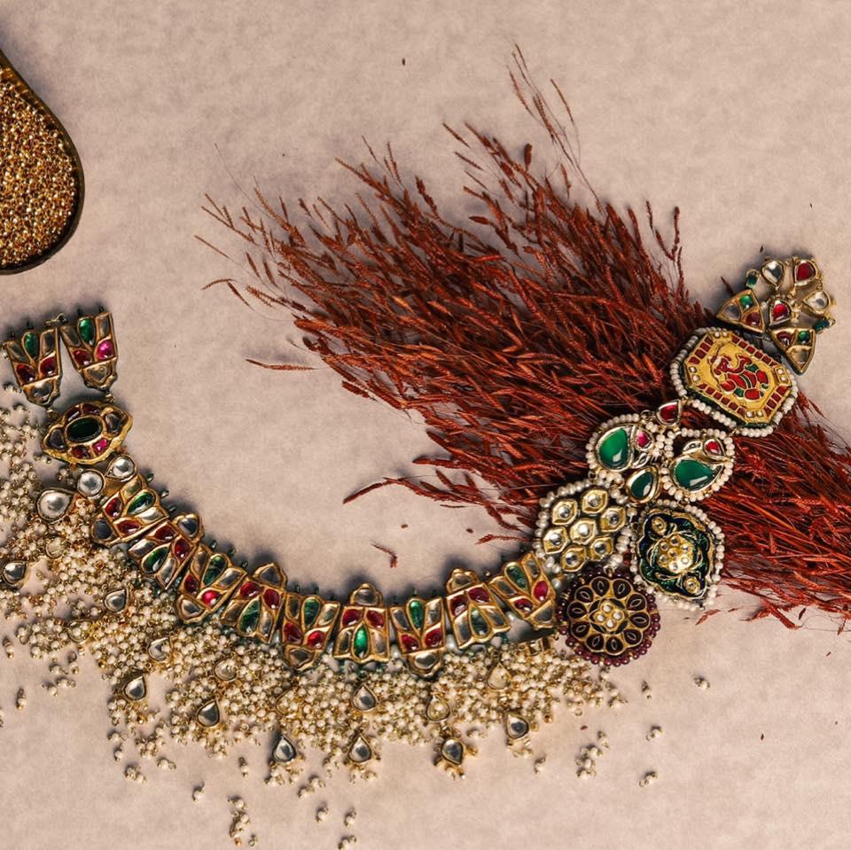 Beautiful Stone Studded Semi Precious Jewelry