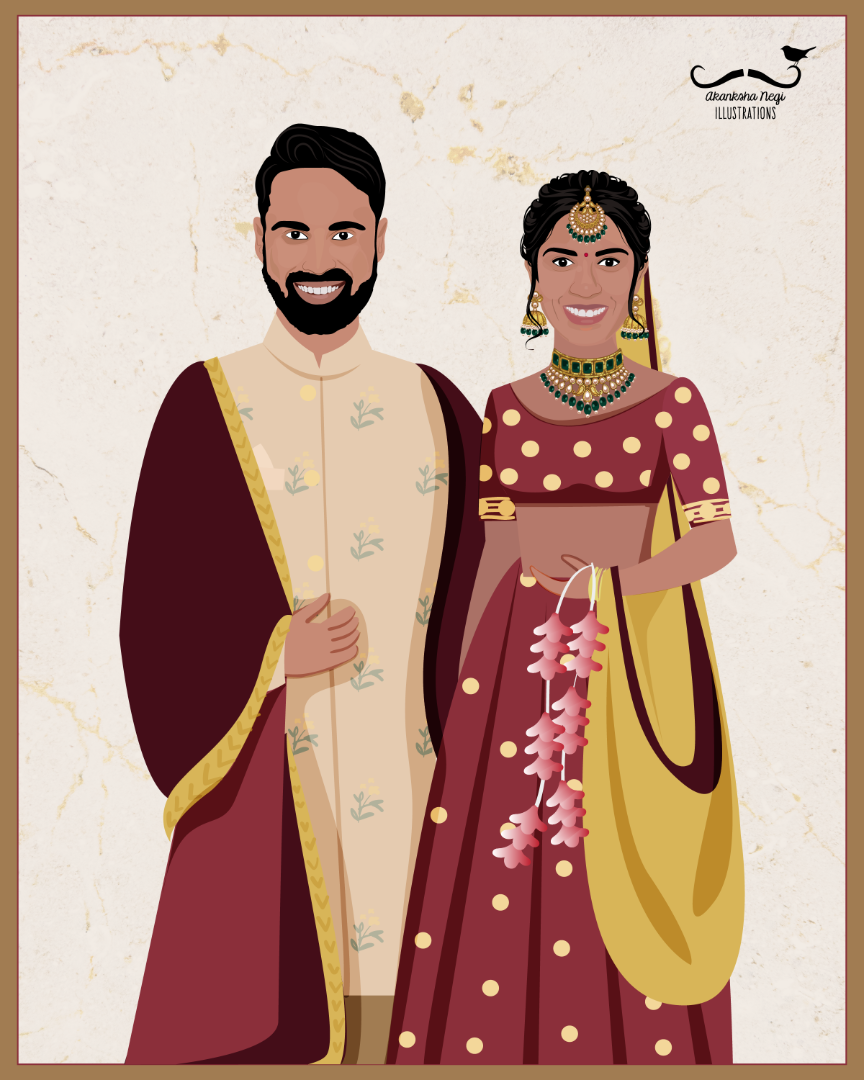 cute couple illustration