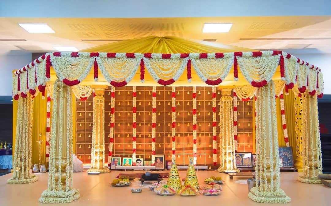 floral mandap décor