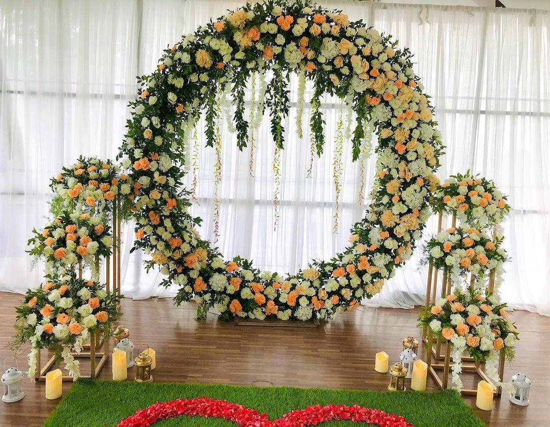 pastel floral decoration