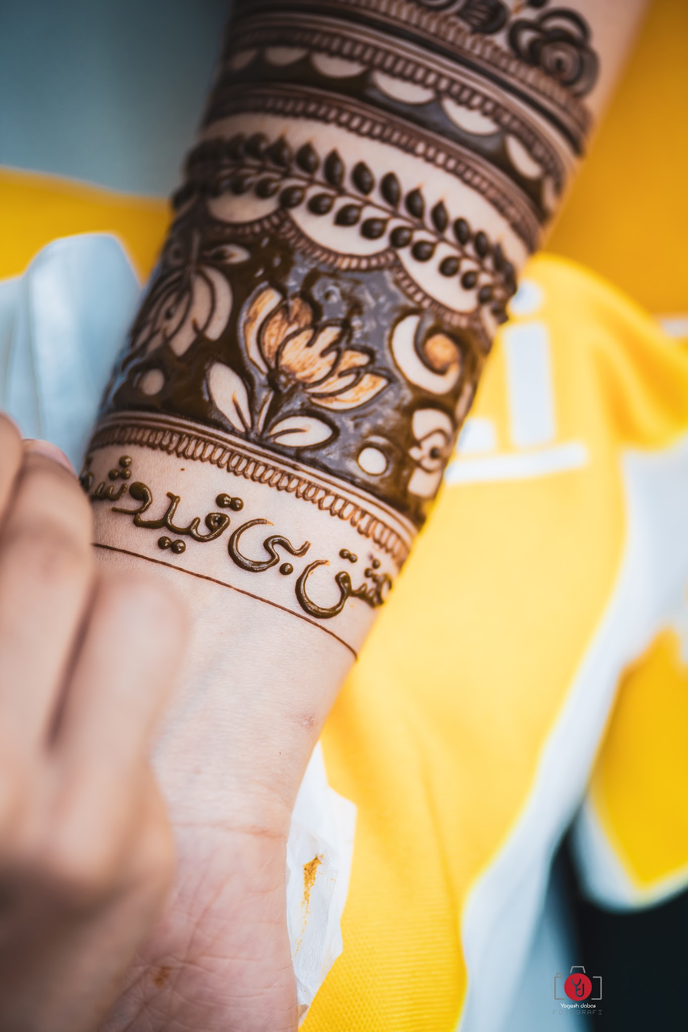 Arabic bridal mehendi designs