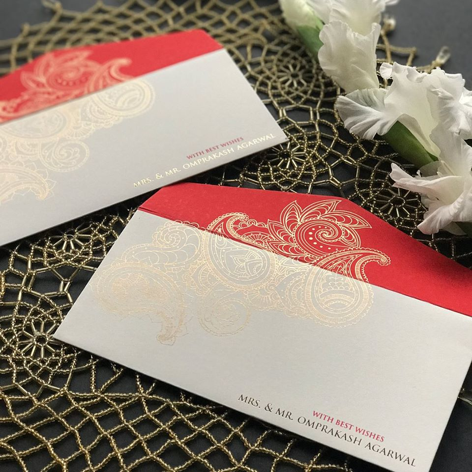 Personalized Red & White Envelop
