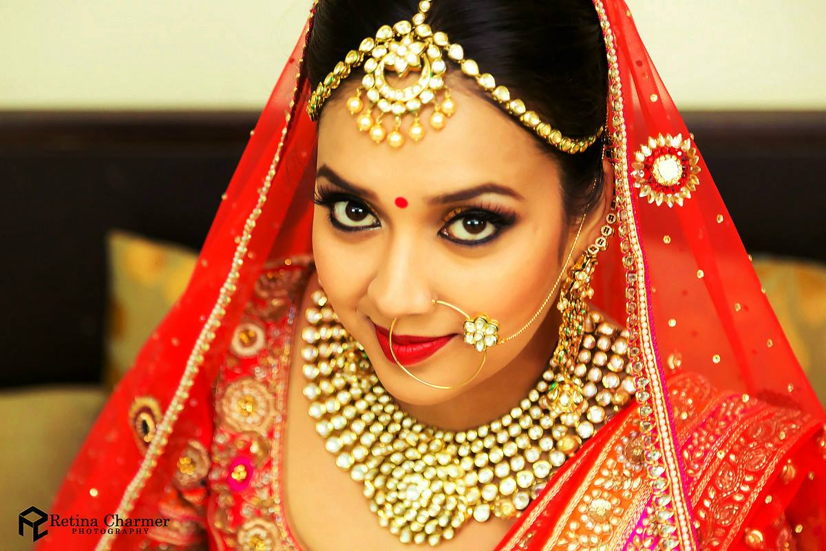Kundan Mang Tikka, Nath and Choker Set for Bride
