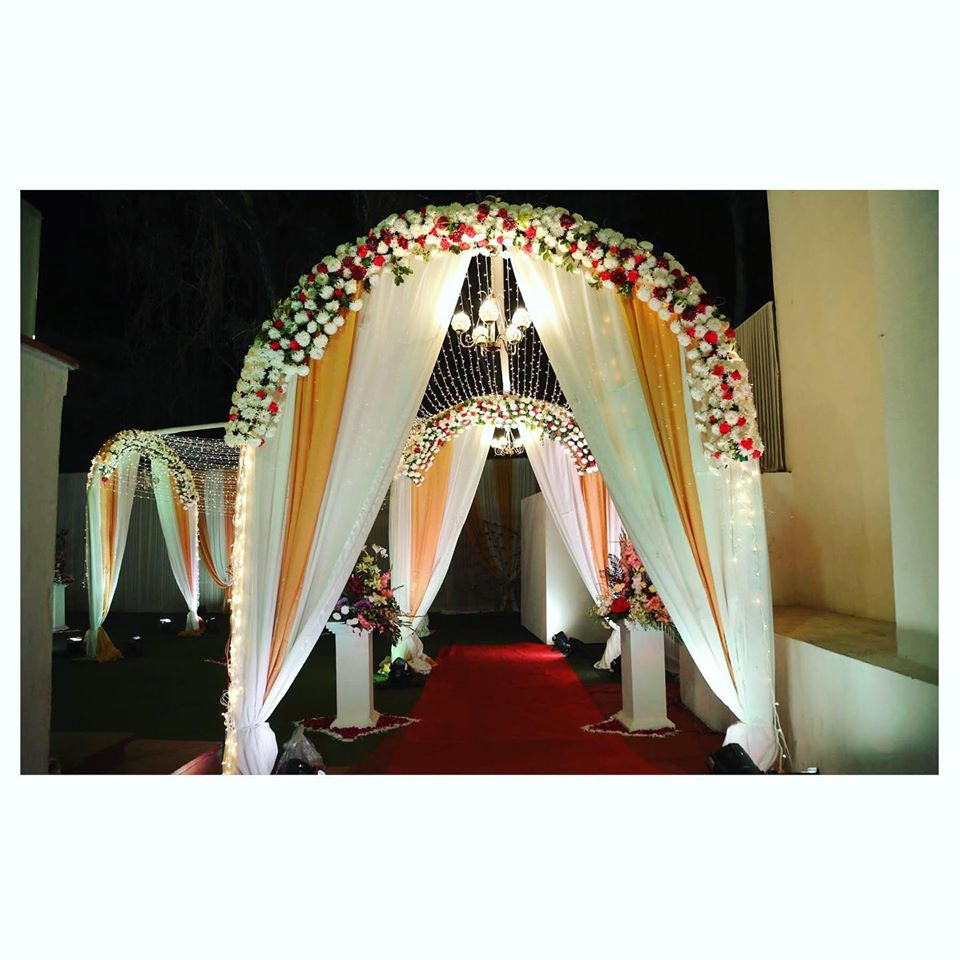 Flower & Drapes Entrance Decor