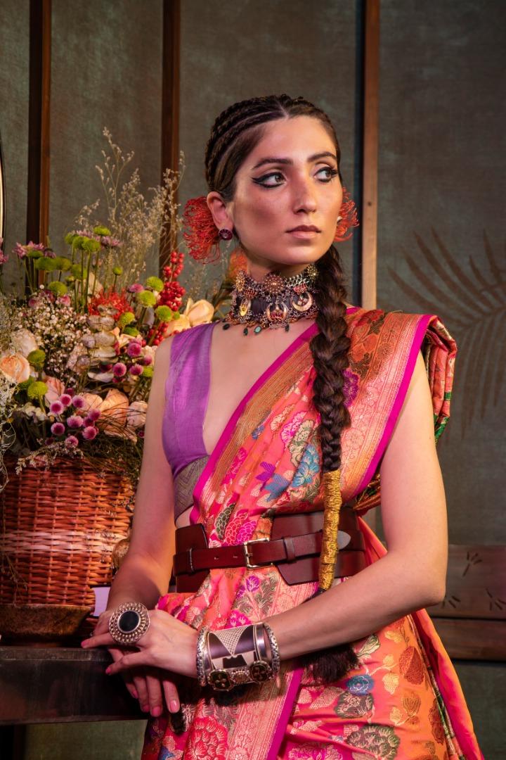 stunning silk saree