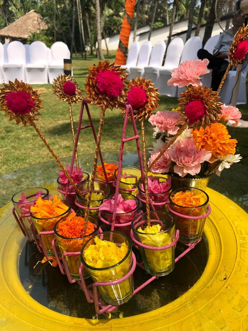 vibrant floral decoration