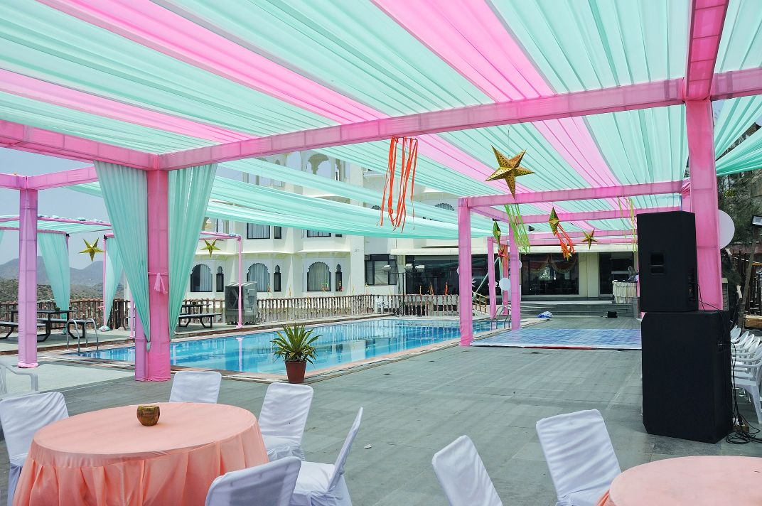 mint green and pink decor