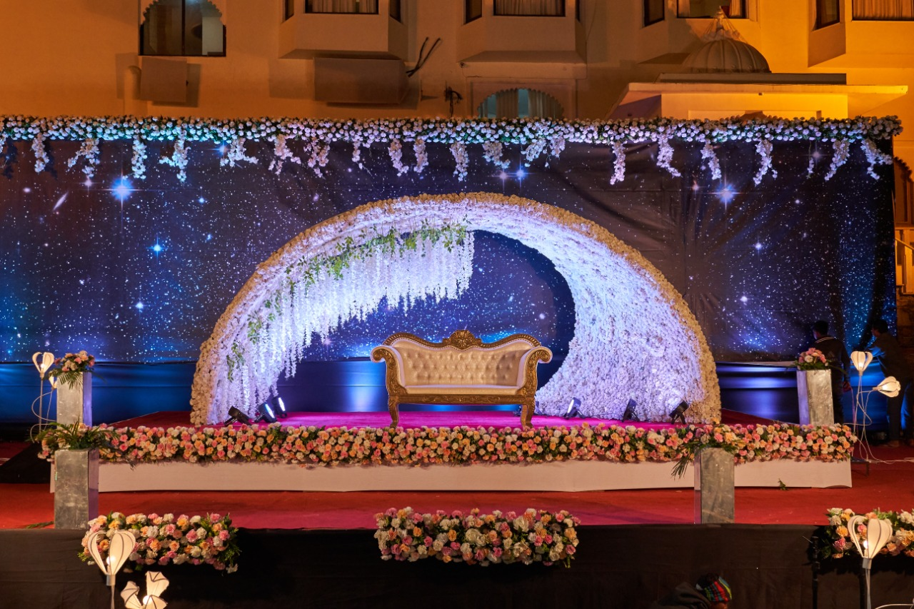 starry night decor for the stage