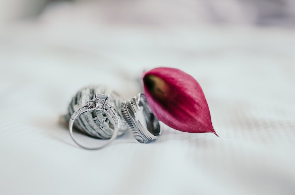creative wedding photography with rings