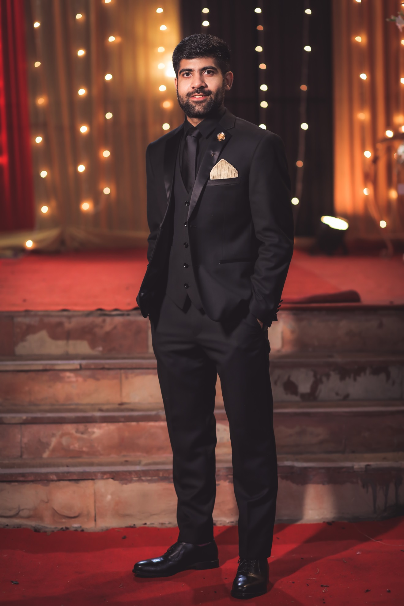 Black Tuxedo for reception