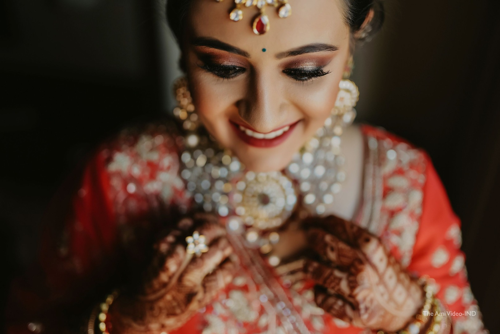 gorgeous bride in red