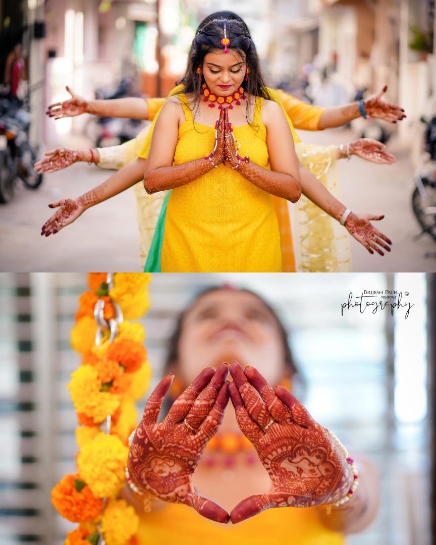 Bride & Bridesmaids Haldi Ceremony Pictures