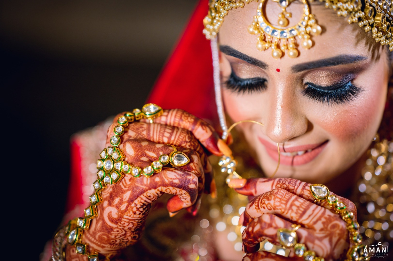 bride in a stunning bridal makeup