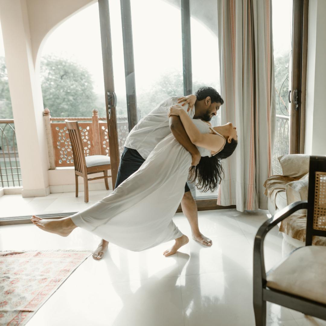 cute indoor wedding shoot