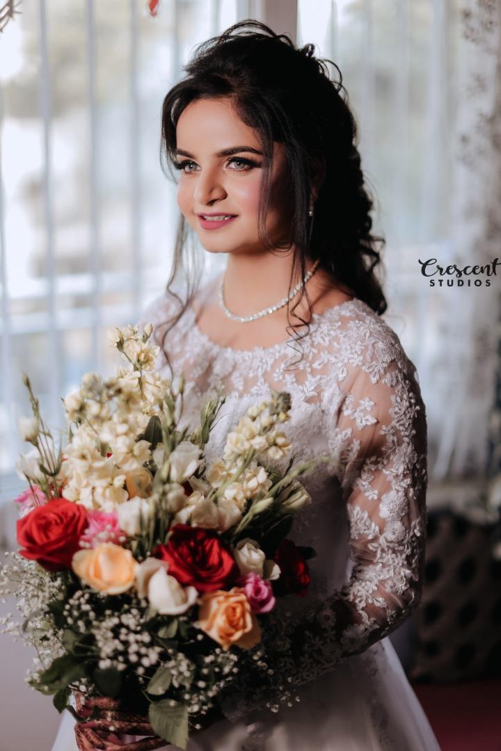 gorgeous bride in white