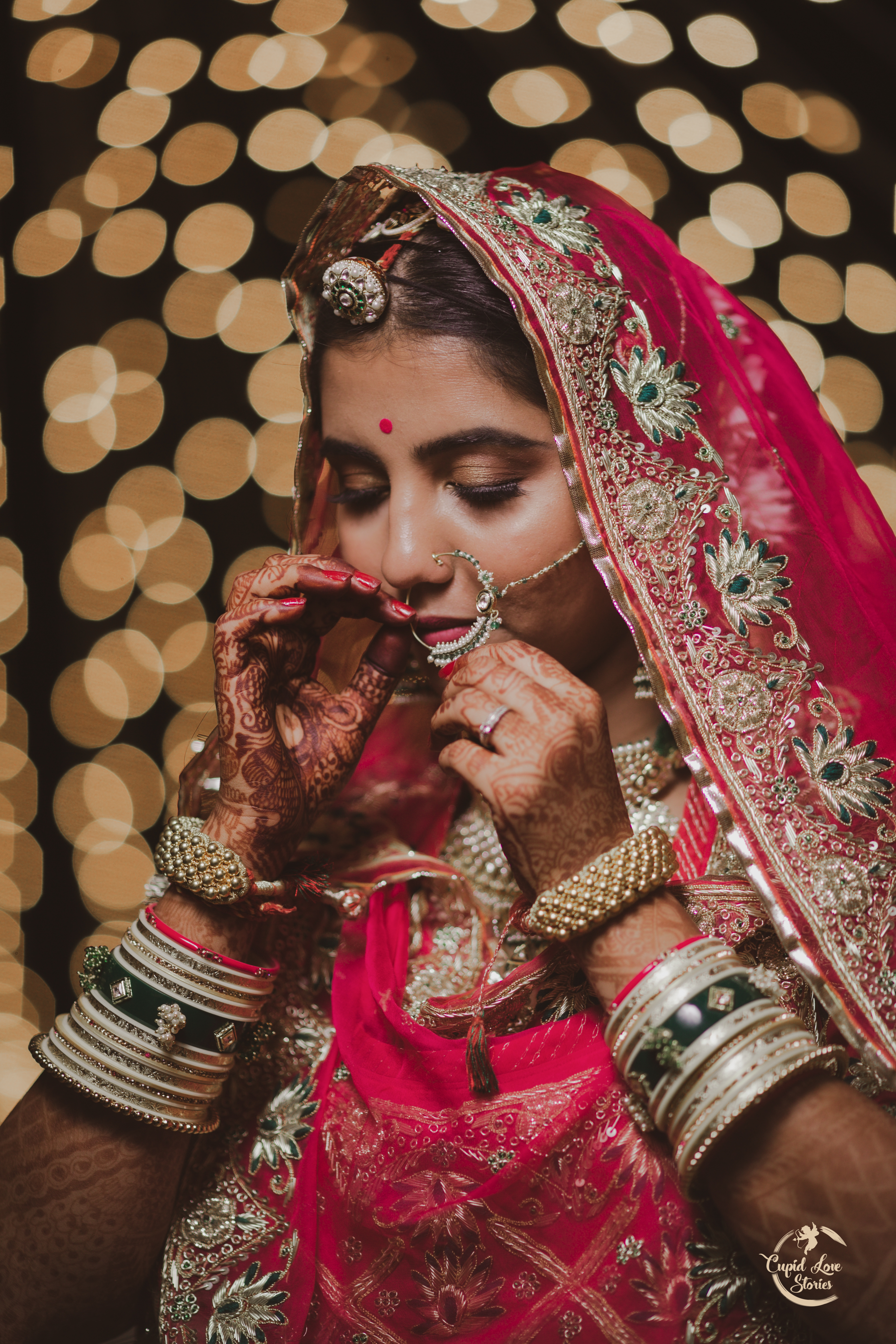 Aesthetic bridal portrait