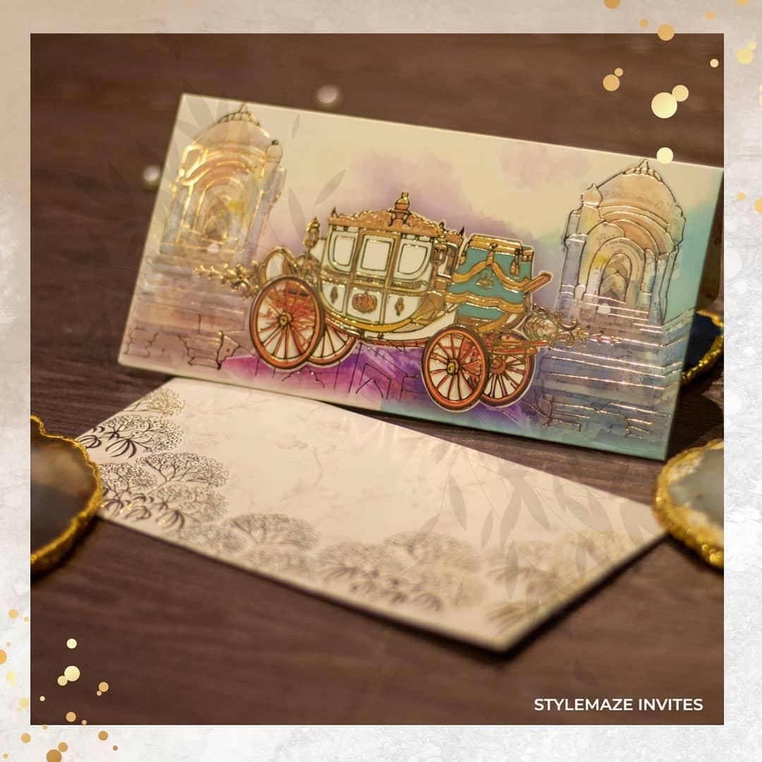 rath painted wedding invite