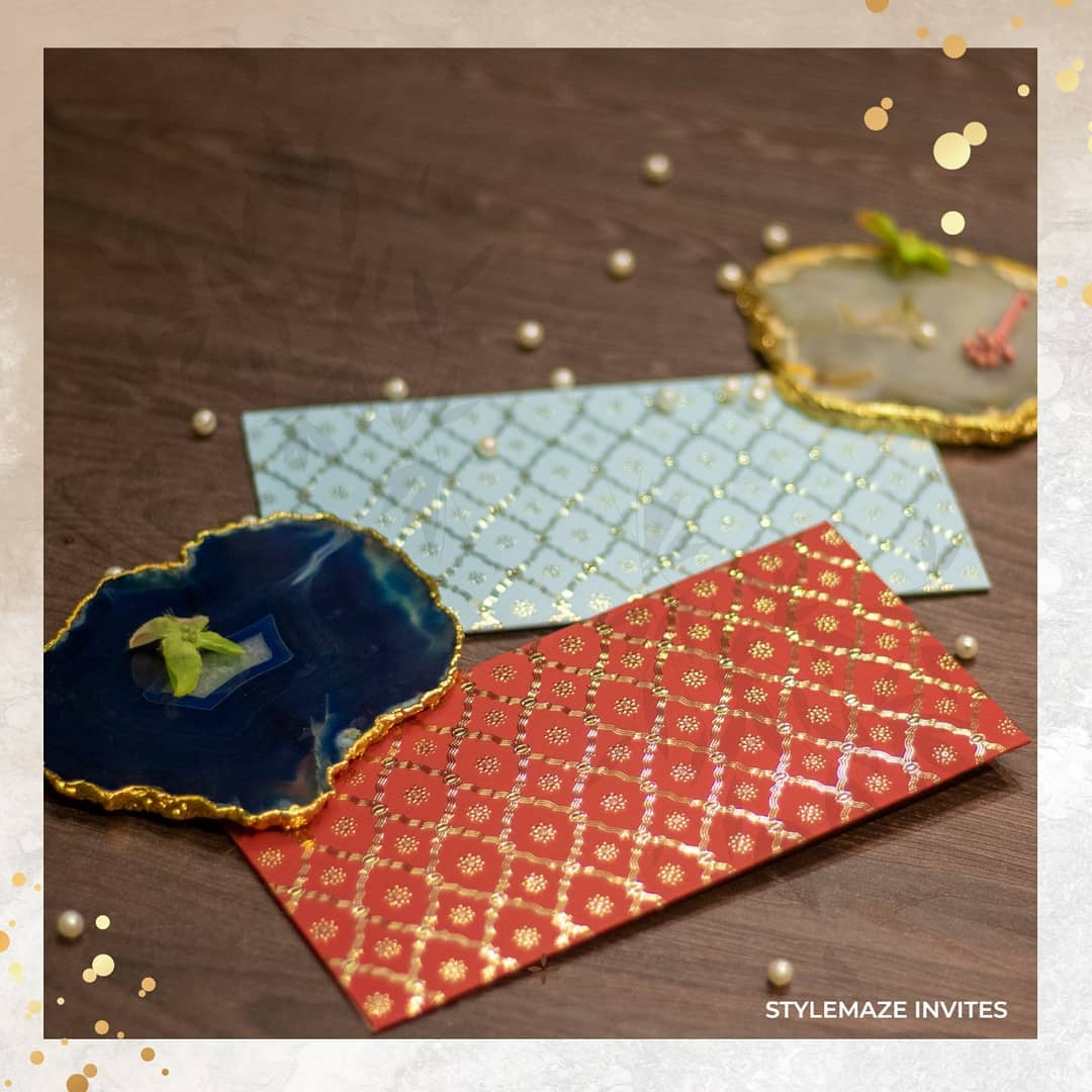 red and blue envelopes
