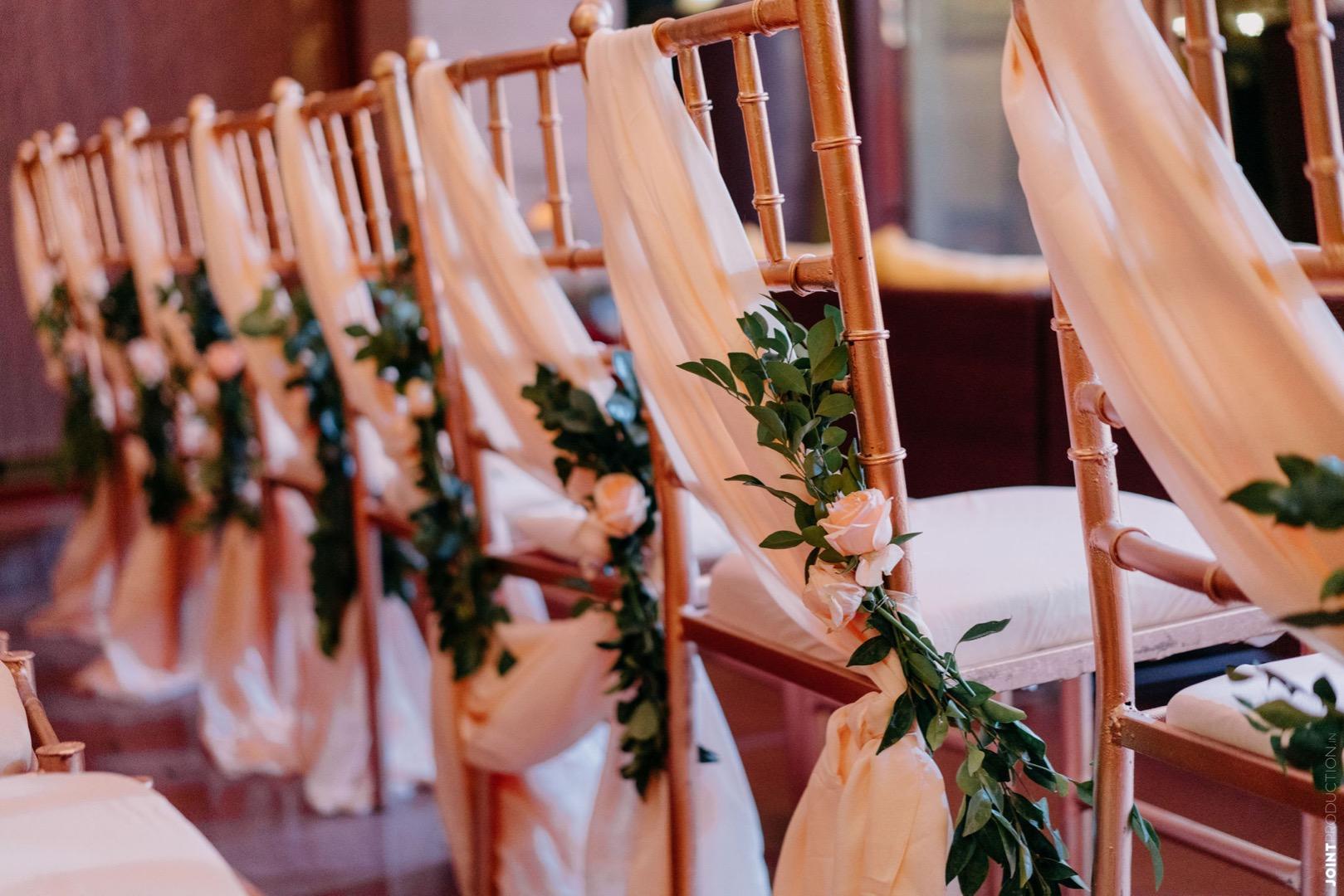 floral seat decor