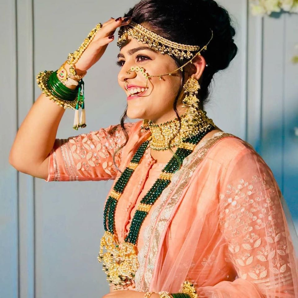 Elaborate bridal jewellery