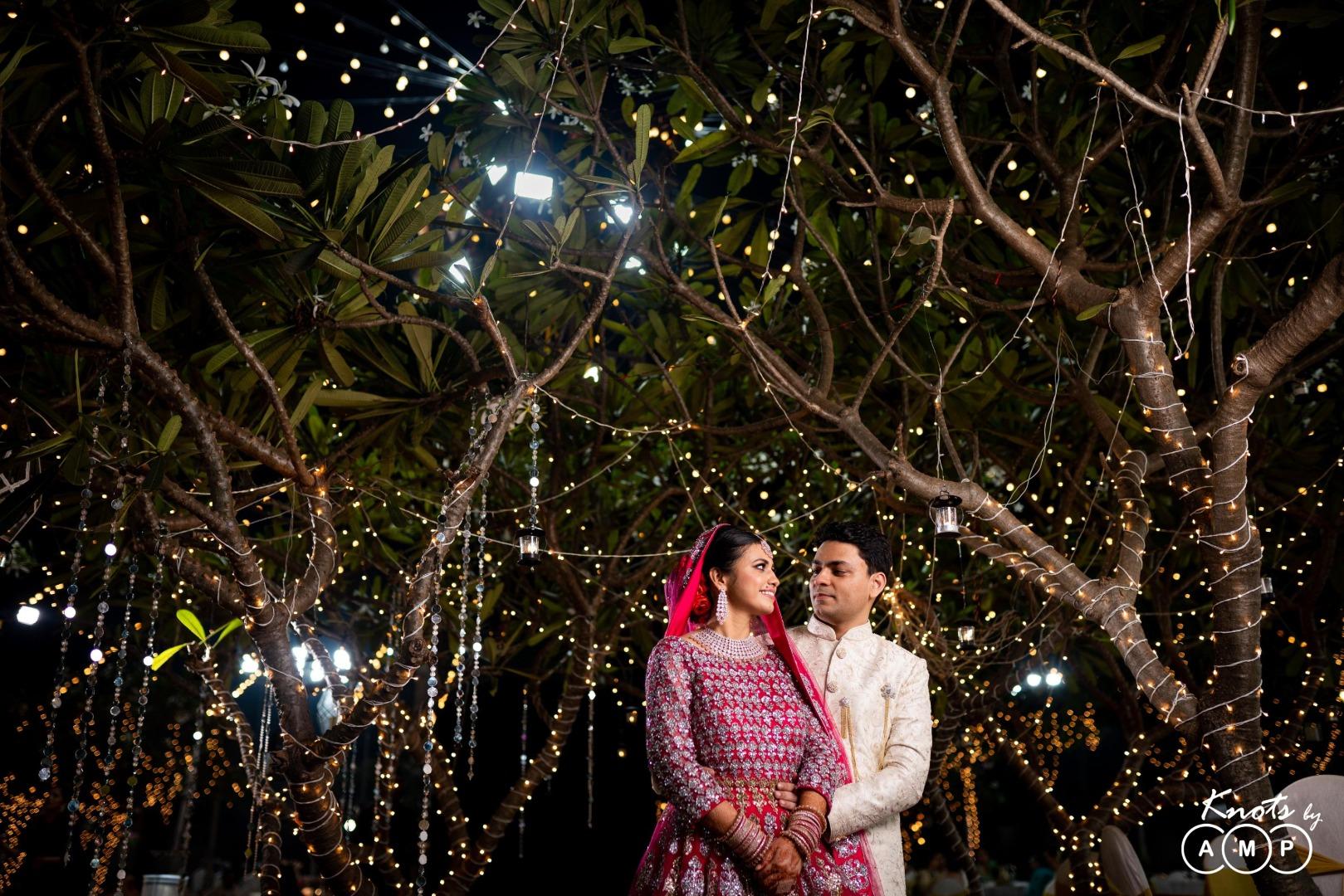 Bride Groom Photography and Fairy Light Decor