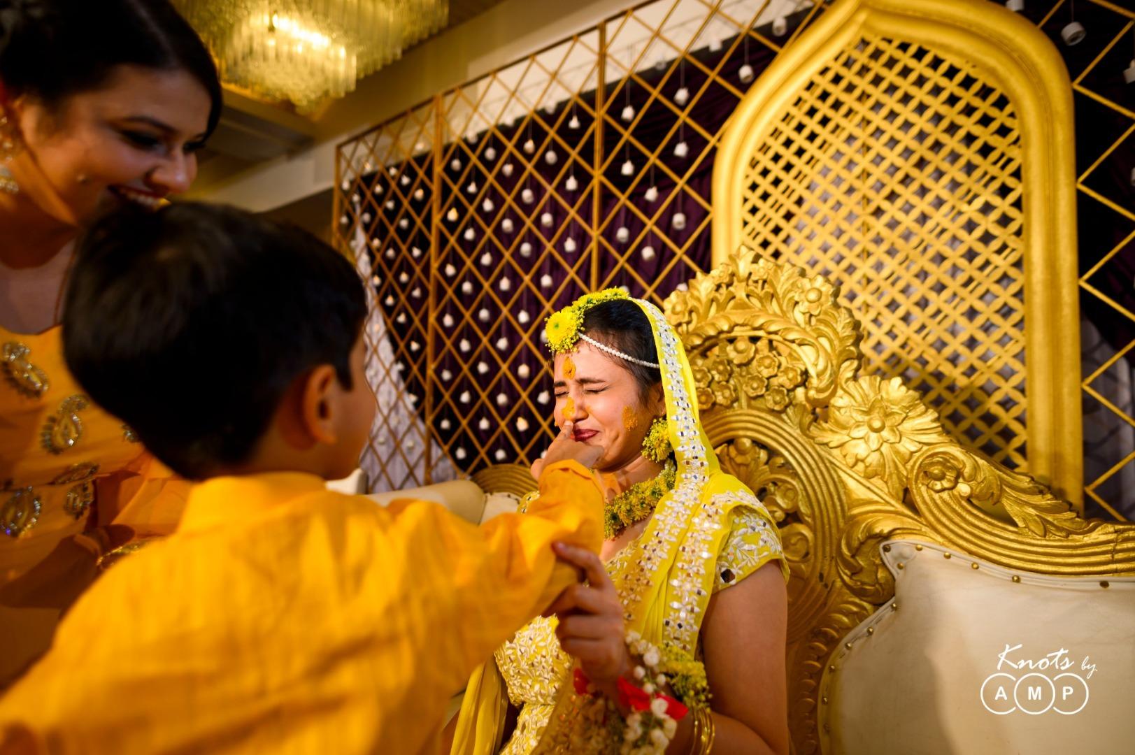 Bride in Haldi Ceremony Picture