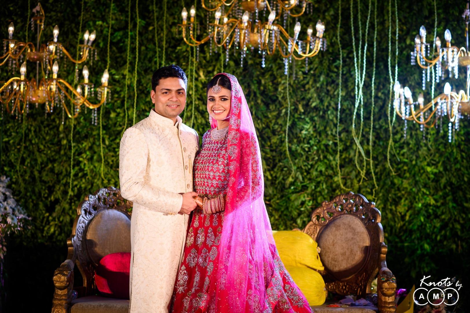 Foliage Stage Backdrop Indian Wedding Reception Decor