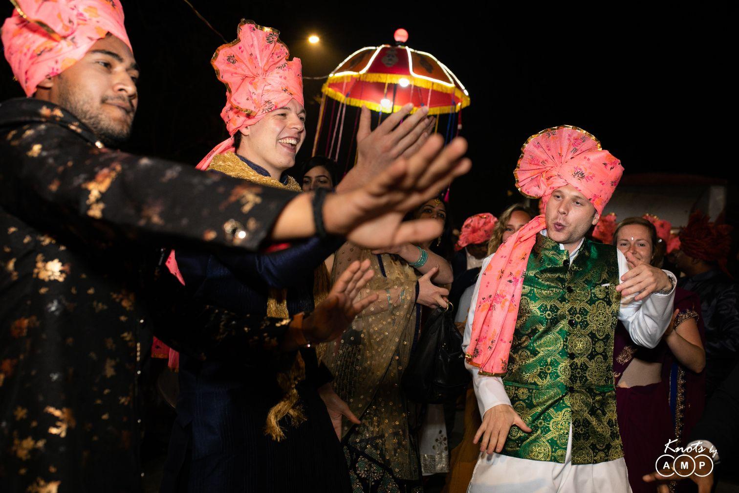 Guests Dancing in Baraat