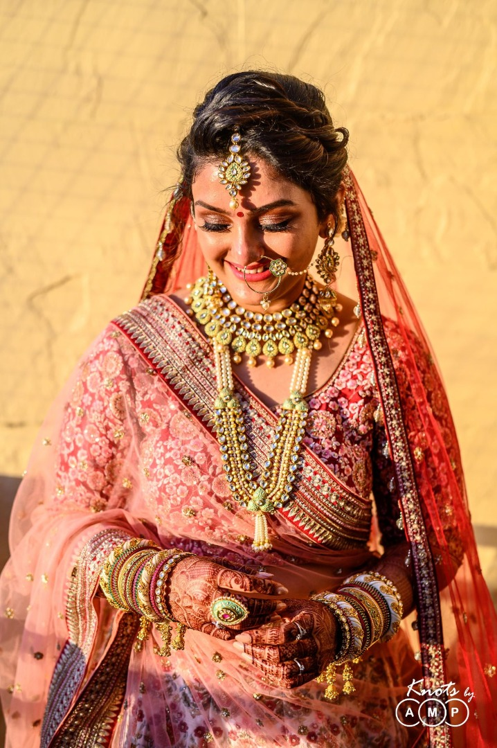 Beautiful Indian Bride Candid Picture