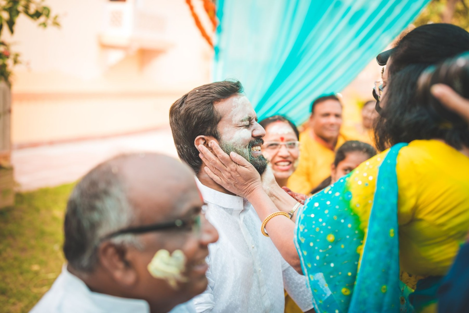 Wedding Holi Party Picture