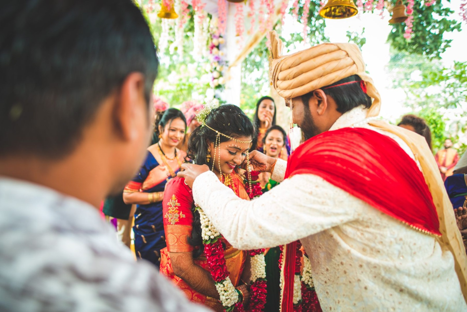 Maharashtrian Wedding Varmala Ceremony Picture