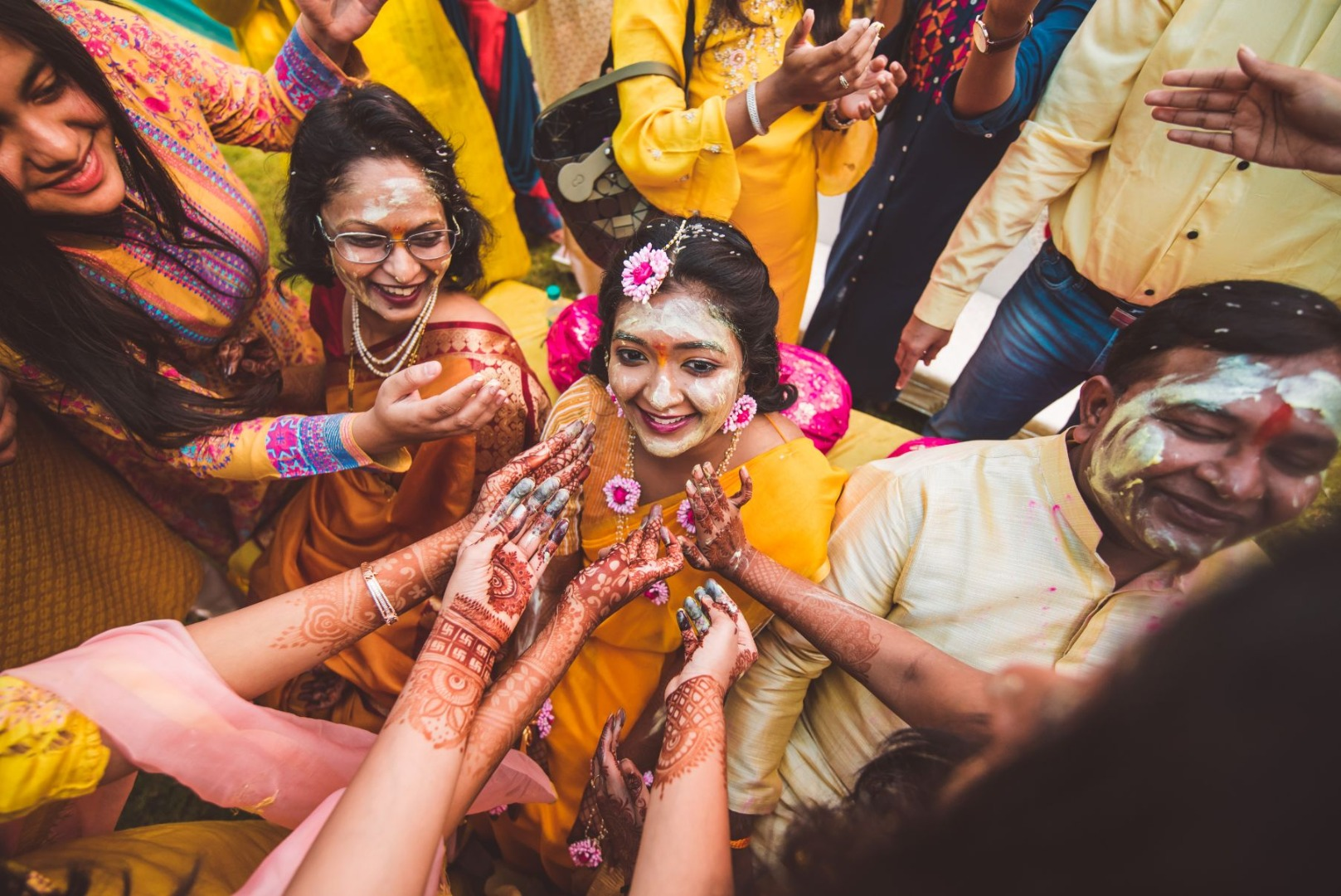 Bridal Haldi Ceremony Picture
