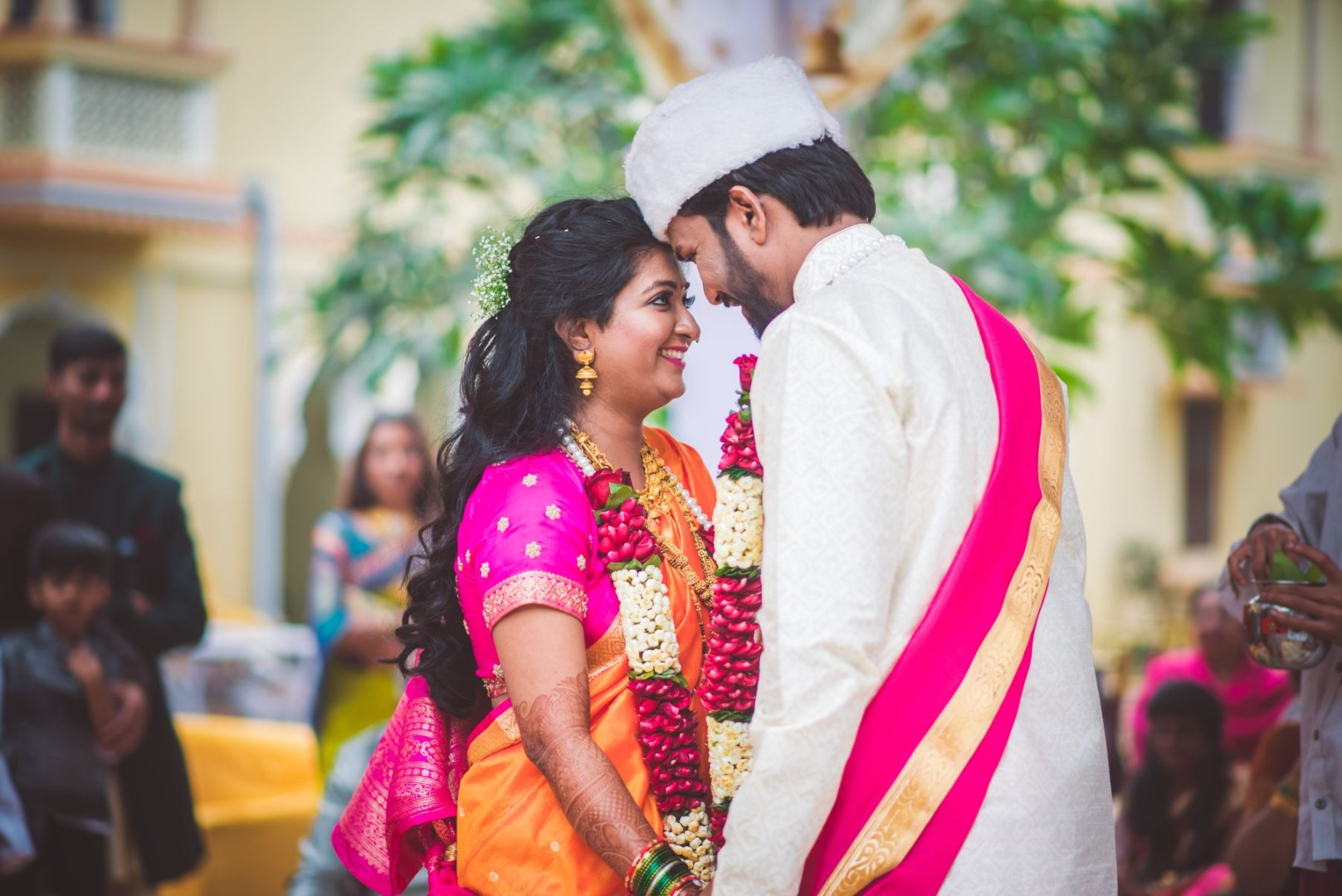 Maharashtrian Bride & Groom Candid Shot Post Wedding Picture