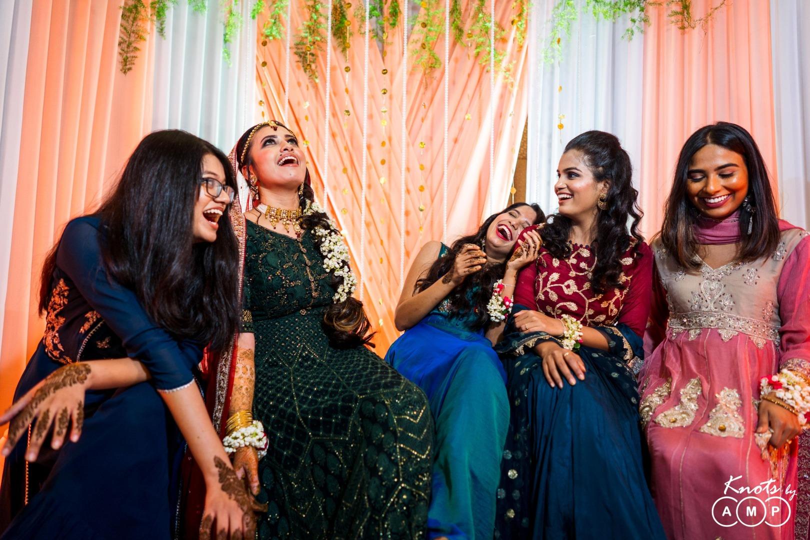 Laughing Bride & Bridesmaids