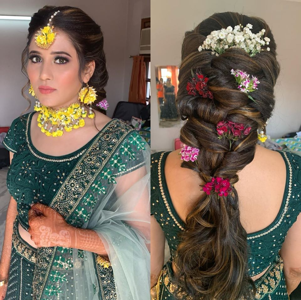 Floral Braid for Haldi Ceremony