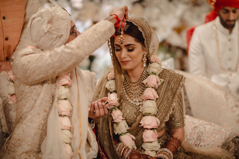 Indian Bride & Groom Sindoor Ritual Picture