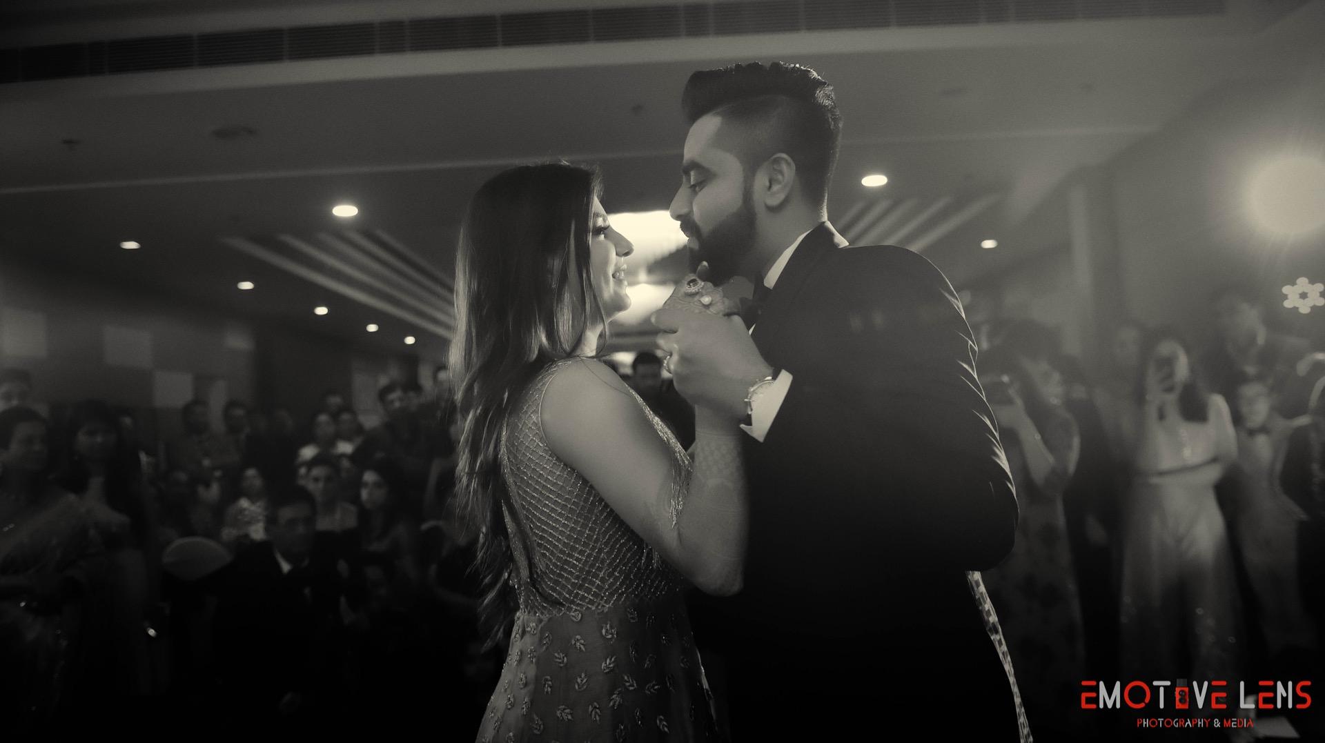 Wedding Couple Dancing Candid