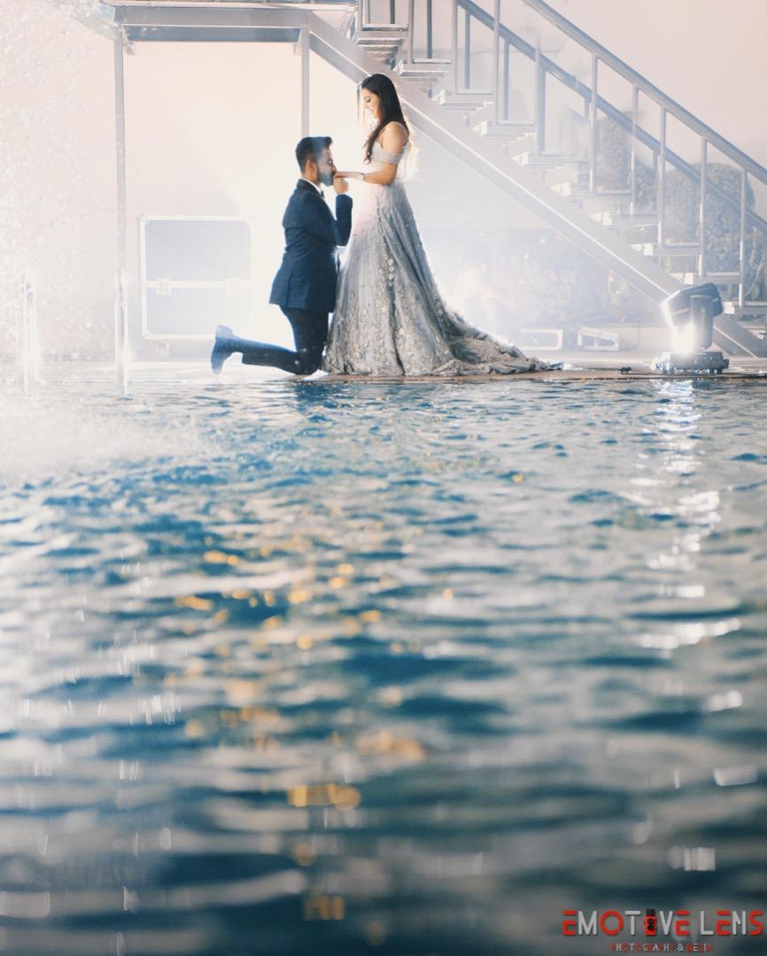 Poolside Pre-wedding Shoot