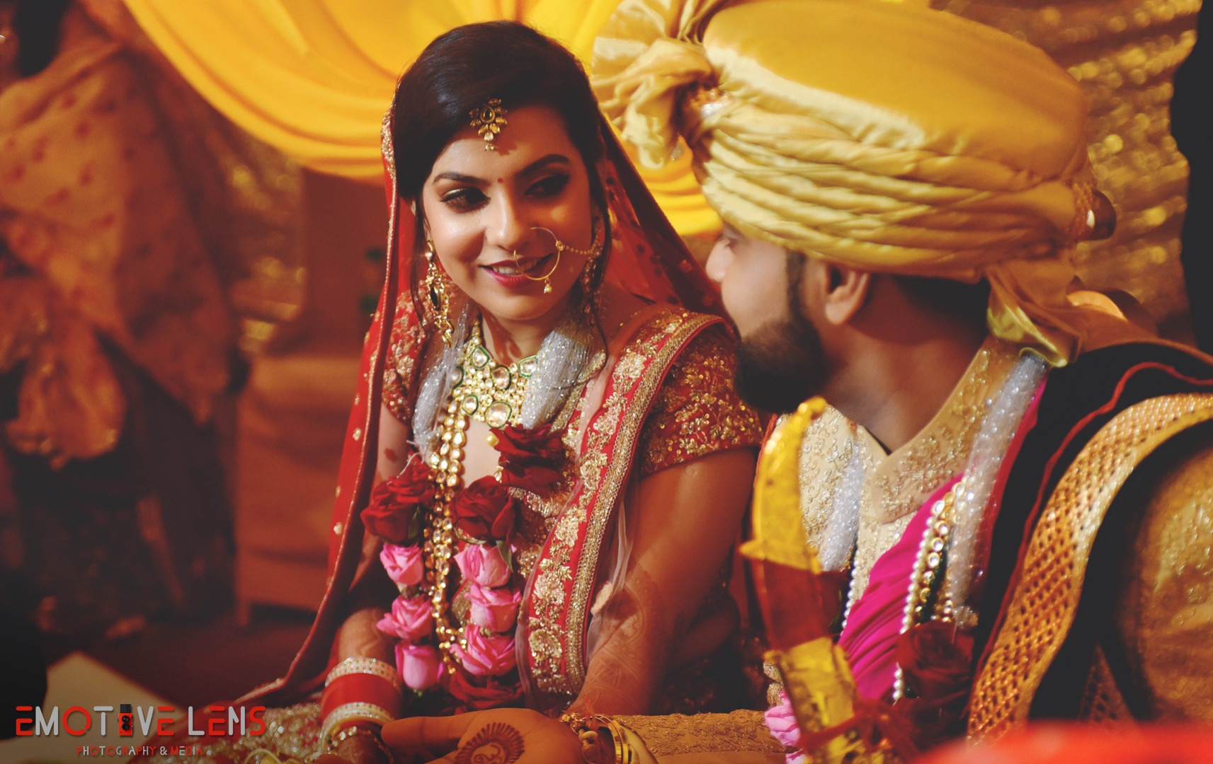 Beautiful Bride and Groom Candid Photography