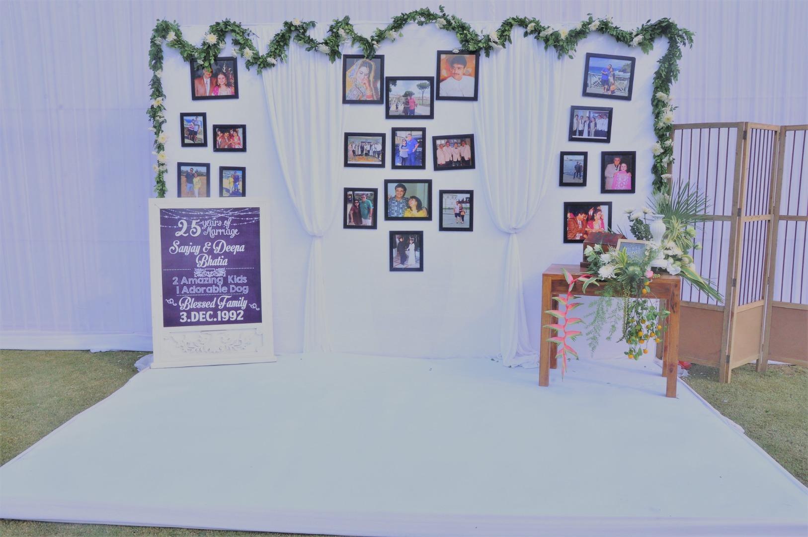 25th Wedding Anniversary Party Decor
