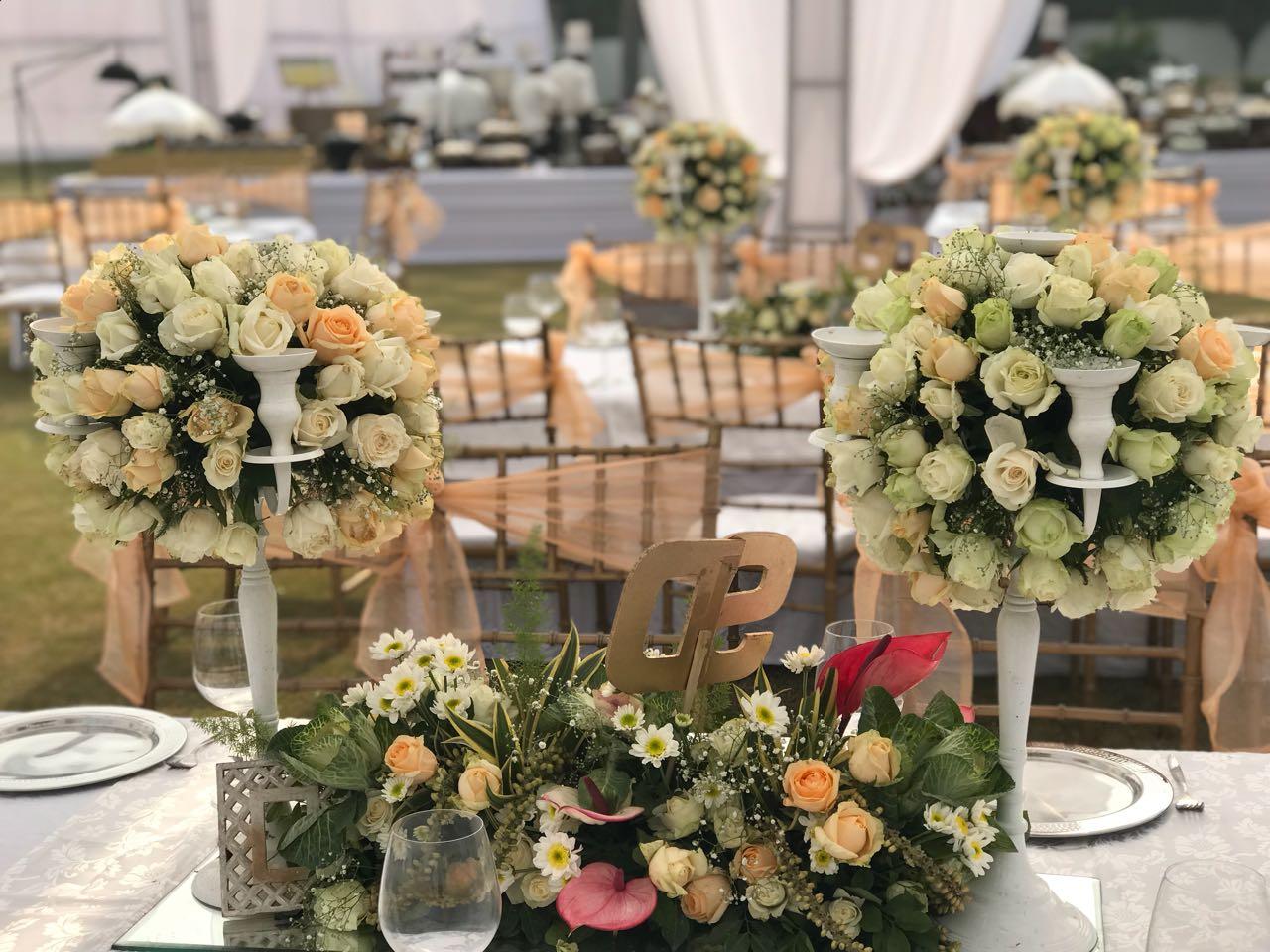 Elegant Pastel Flower Decor in Weddings