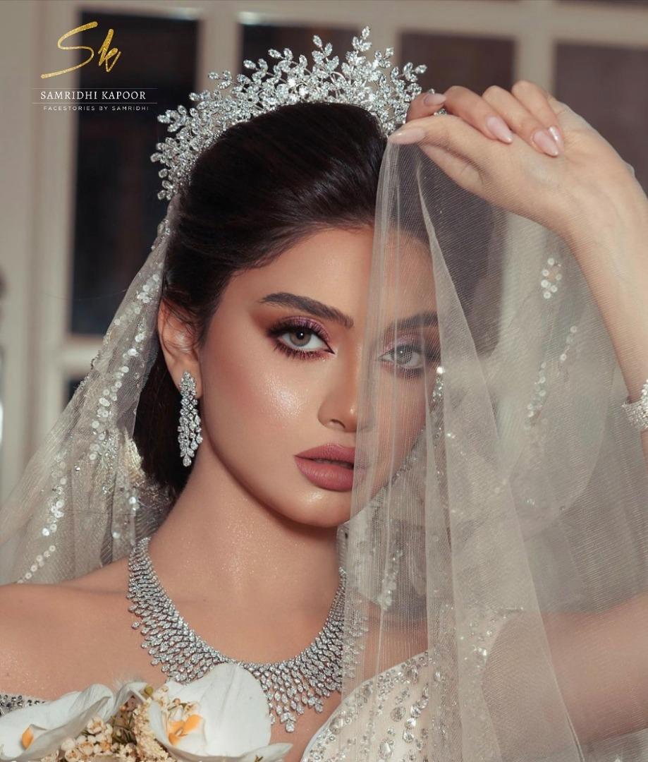 gorgeous bride in white and tiara