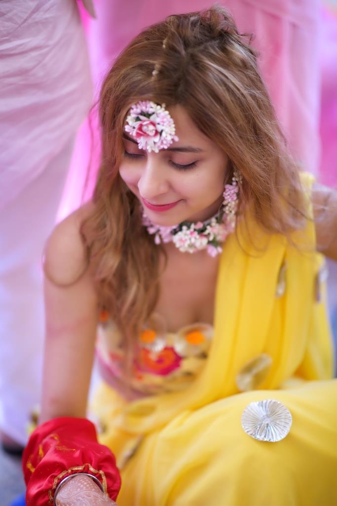 Flower jewellery for haldi